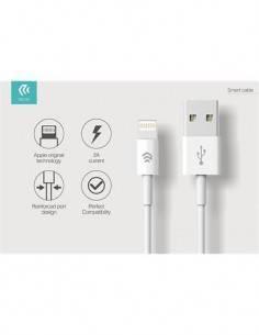 DEVIA Cargador 2.1A USB + Cable MFI Lightning Blanco