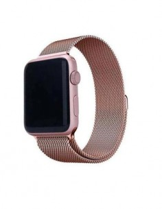 DEVIA Correa Elegant Apple Watch 42/44mm Oro Rosa Metalico Milanese