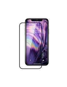 DEVIA Protector Pantalla IPHONE 11/Iphone XR Cristal Borde Negro