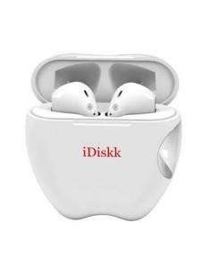 IDISKK Auricular Bluetooth Con Estuche de Carga i55 Blanco Con Cable Tipo C