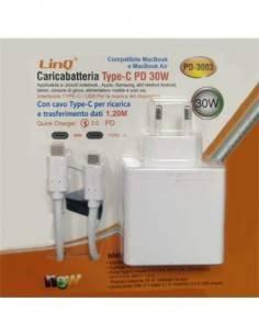 LINQ Alimentador Para Portatil PD-3003 Tpo-C 30W Compatible Con MacBook, Macbook Air