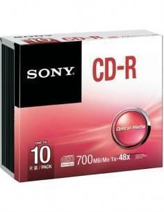 SONY CD-R 700Mb/Mo 1X-48X precio individual con cajita plastica.