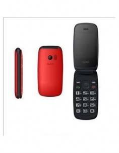 QUBO Telefono Movil NEO Rojo Dual Sim, Radio Fm, Camara con tapa y numeros grandes