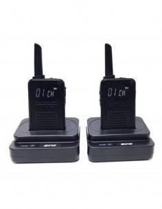 CPS Pack de 2 Emisoras Portatil PMR 446 con 2 micro auricular pinganillo gratis, Analogico CP226 8 C