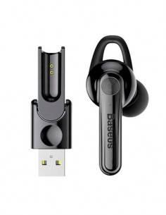 BASEUS Auricular Bluetooth Magnetico Con Usb Directo, Funcion Manos Libres
