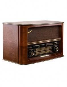 ROADSTAR Radio HRA-1550USMP Retro Madera con Cd/Usb/Sd/Mp3/Aux In 56W
