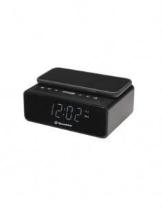 ROADSTAR Radio Despertador CLR-700QI con Cargador Inalambrico