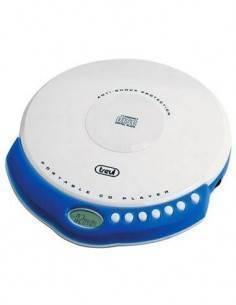 TREVI Reproductor CD/MP3 Discman PORTATIL  CMP498 Azul(Blanco)