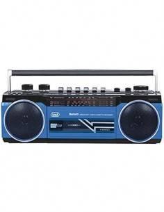 TREVI Radio Cassette Grabador Estereo RR 501 Bluetooth, Usb, Sd, Mp3, Negro Alimentacion y Pilas