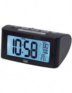 TREVI Reloj Despertador SLD 3880 Con Temperatura y Control de Siesta Negro