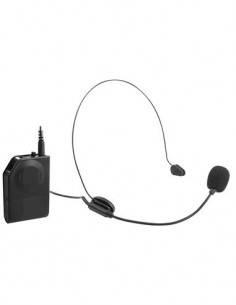 TREVI Microfono Inalambrico Diadema Unidireccional EM 408R Con Transmisor Receptor 20Mtrs