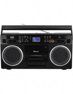 TREVI RR504BT Reproductor Portatil Con Usb/SD/BT/ Grabadora de Cassete Negro