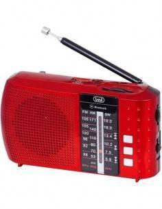 TREVI Radio Portatil AM/FM RA7F20 Roja Bluetooth, Usb, Micro Sd, Bateria Recargable