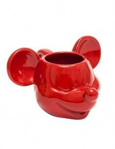 DISNEY Taza Diseño 3D Mickey Mouse Ceramica Rojo