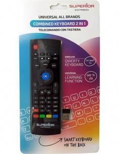 SUPERIOR Mando 2 En 1 Universal Con Teclado Qwerty Inalambrico Para Smart Tv