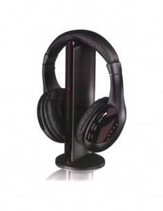 I-TOTAL CM3041 Auriculares Inalambricos con Microfono 5 en 1 de Transmisor FM