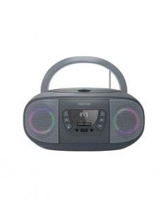 FONESTAR Radio CD Portatil Bluetooth BOOM-GO Negro Con Usb, Mp3, Aux In Con Luces