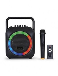 FONESTAR Box-35LED Altavoz Portatil con Reproductor USB/SD/Bluetooth, Micro Inalambrico, Efectos Led