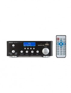 FONESTAR Amplificador Estereo Bluetooth AS-22RUB Radio Fm,Mp3, 3X Aux In