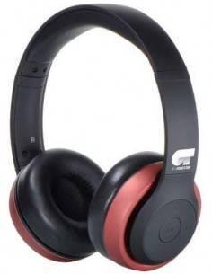 FONESTAR Auricular De Casco Inalambrico Bluetooth/Aux HARMONY Rojo