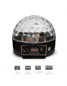 FONESTAR LED-MINIBALL20 82 Rayos Moviles Multi Color/Automatico-Activacion Sonido