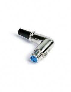 FONESTAR Conector Canon Hembra XLR Acodado SM-566-AN