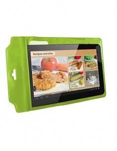 """KSIX Easy Cook Case Funda Tableta 10"""" a Prueba de Salpicaduras, con Soporte Verde"""