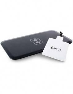 KSIX Cargador Inalambrico Qi Para Smartphones Con Adaptador Micro Usb 1A