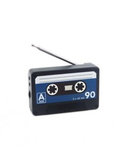 BALVI Radio Portatil FM Diseño Cinta Cassette PLay Magnetica A Pilas