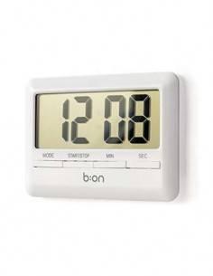 b:on Reloj Con Temporizador Digital Blanco Plano