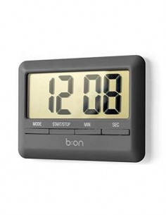 b:on Reloj Con Temporizador Digital Negro Plano