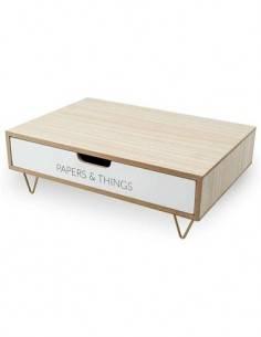 BALVI Soporte Monitor Diseño Cajon Blanco NORDIC 26969