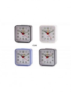 TIMEMARK CL01 Reloj Despertador Analogico Pequeño Negro