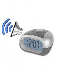 TIMEMARK CL-IBIZA Reloj Despertador Digital Parlante con Calendario, Temperatura