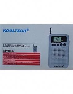 KOOLTECH CPR124 Radio Digital AM/FM con Reloj, Altavoz