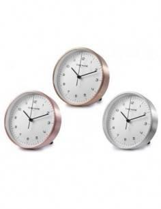 TIMEMARK CL286 Reloj Despertador Analogico Plateado