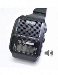 TIMEMARK TM IBIZA Reloj Despertador Digital Parlante Negro