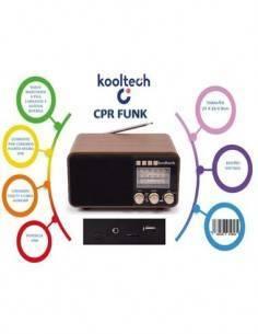 KOOLTECH Radio Portatil AM/FM/SW Retro Madera CPR FUNK Con Bluetooth, Usb, Micro SD Con Alimentador