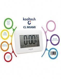 TIMEMARK Reloj Despertador Tactil CL-MIAMI Con Digitos Grandes, Temperatura y Fecha
