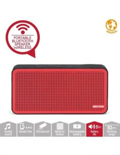DISASHOP Altavoz Portatil Bluetooth DBRICK Rojo Manos Libres, Aux In, 1.5W
