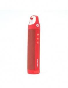 DISASHOP Altavoz Bluetooth DTUBE 360º Manos Libres Rojo 1.3W
