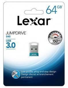 LEXAR Pendrive 64GB Usb 3.0 Jumpdrive S45 150Mb/s