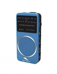 SYTECH SY-1675A Radio Bolsillo AM/FM Con Altavoz Azul