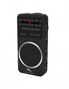 SYTECH SY-1675N Radio Bolsillo AM/FM Con Altavoz Negro