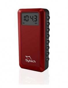 SYTECH Radio Digital de Bolsillo AM/FM Roja SY-1671 Funcion Despertador Y Temporizador