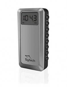 SYTECH Radio Digital de Bolsillo AM/FM Plata SY-1671 Funcion Despertador Y Temporizador