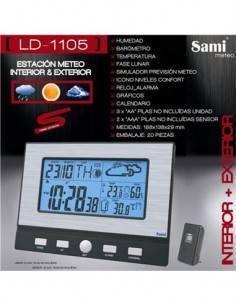 SAMI LD-1105 Estacion Barometrica con Sensor Exterior Hora, Calendario, Temperatura Interior Exterio