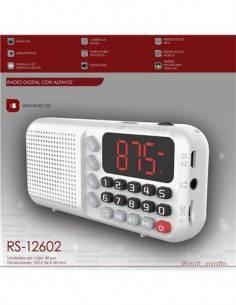 SAMI Radio Digital Portatil RS-12602 FM/Micro SD/Carga Micro Usb/1500Mah