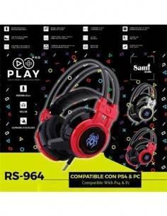 SAMI Auricular Gaming Con Microfono RS-964 Para PS4 y PC Con Luces led y Vibracion