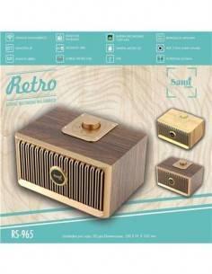 SAMI Altavoz Retro Madera RS-965 Con BT/Radio FM/Usb/Aux 10W